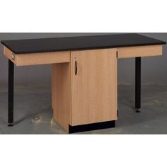 Stevens ID Systems Science Workstation Surface Type: Laminate, Color: Ebony Star, Frame Finish: Maple