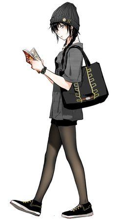 Marvelous Learn To Draw Manga Ideas. Exquisite Learn To Draw Manga Ideas. Manga Anime, Manga Girl, Anime Girls, Anime Art, Dark Anime Girl, Anime Girl Short Hair, Anime Girl With Black Hair, Anime Pokemon, Kawaii Anime