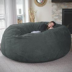 Chill Bag Bean Bag Its big enough for the whole family! This will be the coziest spot in your home! The Chill Bag may be called a bean bag chair, but you will not find beans or styrofoam pellets here. The Chill Bag Bean Bag is made from the softest, highest quality shredded foam for a totally unique lounging experience. Features:  Super soft micro suede cover that can be removed and washed Ultra durable inner liner with child safety zipper Furniture grade memory foam blend Made in the USA…