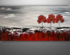Abstrait peinture, Art abstrait, peinture arbre, peinture arbre abstraite, peinture originale, Art contemporain, la peinture de paysage, acrylique Art,