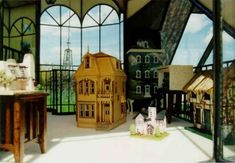 Could you believe these are miniatures houses into a miniature house?