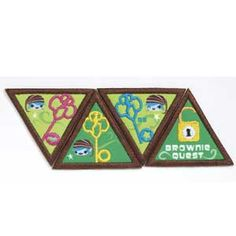 BROWNIE QUEST JOURNEY AWARD PATCH SET | • Discover Key • Connect Key • Take Action Key  • Quest Master Lock