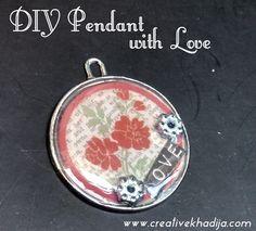 DIY pendant with love and Dimensional Magic