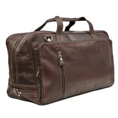 This chic holdall is a sheer work of art, constructed of the supplest dark leather and finished with simple, stylish accents such as the detachable shoulder strap and discreet zipper pockets to the side. This holdall would function as well on a safari in the jungle as it would on a luxury mini-break on the Champs-Élysées. The holdall has three large zipped sections for neat organisation of all your personal effects.