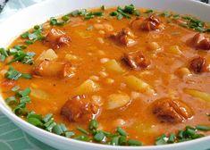 Frankfurtská polévka s fazolemi recept - TopRecepty.cz Cheeseburger Chowder, Curry, Soup, Ethnic Recipes, Curries, Soups