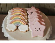 Nicole F's Birthday / Pastel rainbow - Photo Gallery at Catch My Party Rainbow First Birthday, Baby Girl 1st Birthday, Girl Birthday Themes, Birthday Cake Girls, 1st Birthday Girl Decorations, First Birthday Cookies, Birthday Ideas, Deco Baby Shower, Rainbow Party Decorations