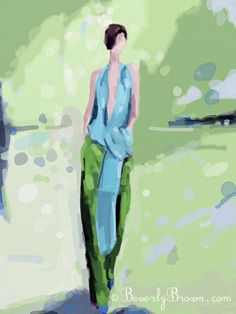 Ipad Fashion Illustration - Paris Fashion Week Spring 2012 - Haider Ackermann