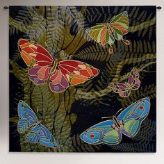 One of my favorite discoveries at WorldMarket.com: Woodland Butterfly Tapestry Wall Hanging