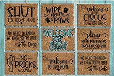Cricut Discover Welcome Mat Bundle - 8 Designs Incl. Front Door Rugs, Front Door Decor, Camping Friends, Beach Boutique, Welcome Mats, Design Show, Clipart, Cricut Design, Design Bundles