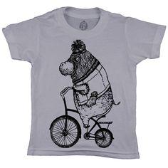 Organic cotton children's t-shirt, Rolling Deep Hippo, Salt City Emporium