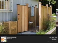 Great outdoor shower using fence panels