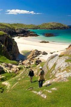 Achmelvich Beach ~ Achmelvich Beach in the Highlands of Scotland. Sutherland