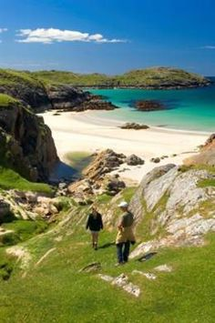 Achmelvich Beach ~ Achmelvich Beach in the Highlands of Scotland. Sutherland                                                                                                                                                     More