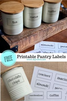 Free Printable Pantry Labels- These free printable pantry labels will help you organize your kitchen Printable Labels, Free Printables, Printable Art, Craft Tutorials, Diy Projects, Craft Ideas, Fun Crafts, Diy And Crafts, Paper Crafts