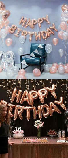 HAPPY BIRTHDAY Balloons Banner in 12 Colors DIY birthday party decorations. Ballon Banner, Happy Birthday Balloon Banner, Birthday Party Decorations Diy, Party Decoration Ideas, 15th Birthday Party Ideas, 30th Party, Birthday Banner Ideas, Ideas Party, Birthday Ideas For Teens
