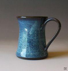 READY TO SHIP - Pottery Mug - Light Blue - Stoneware Mug - Coffee Cup - Tea
