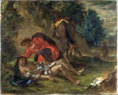 Eugène Delacroix: The Good Samaritan (1852).