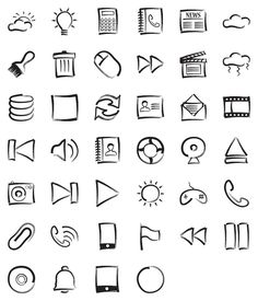 Collection of Free Hand Drawn Excellent Sets hand drawn icons to go with our design/themehand drawn icons to go with our design/theme Sketch Icon, Sketch Notes, Sketches, Visual Thinking, Design Thinking, Icon Design, Web Design, Type Design, Graphic Design