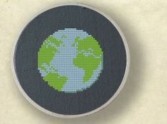 Earth. Cross Stitch Pattern. PDF File by andwabisabi on Etsy, $3.00