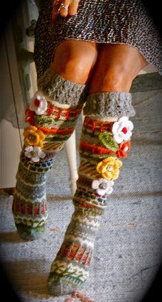 Ankortit Knitting Socks, Hand Knitting, Knitting Patterns, Crochet Patterns, Crochet Slippers, Knit Crochet, Hairpin Lace, Leg Warmers, Beanies