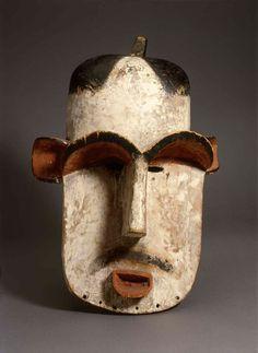 Democratic Republic of Congo. Mask Portrait of Albert Schweitzer, 1900s. Wood, fiber. Staatliches Museum für Völkerkunde, München, Photo: Marianne Frank.