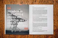 League Quarterly Journal | MagSpreads | Magazine Layout Inspiration and Editorial Design
