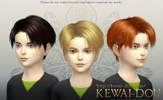 KEWAI DOU: Levi hairstyle for boys for Sims 4