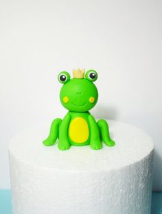 Fondant frog baby shower / birthday cake by SugarDecorByLetty