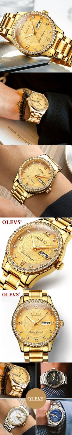 2017 Brand Luxury Full Stainless Steel Watch Men  Casual Business Quartz Watches Diamond Wristwatch waterproof Relogio New SALE