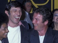 PHOTO: Leonard Nimoy and William Shatner attend the press conference for Star Trek - The Motion Picture on March 28, 1978.