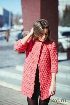 Пальто LA ROSE крючком от Полины Крайновой
