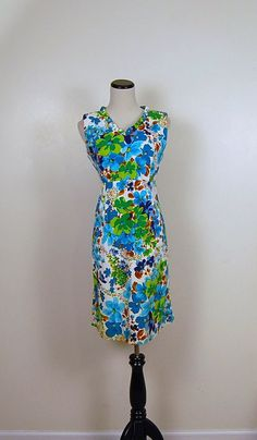 60s Tropical Dress by CheekyVintageCloset on Etsy, $32.00
