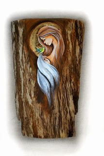 Q Tip Painting, Tole Painting, Painting On Wood, Art Sketches, Art Drawings, Jesus Tattoo, Angel Crafts, Mary And Jesus, Angel Pictures