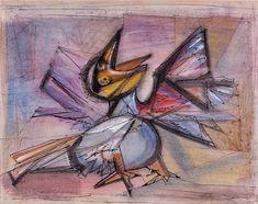 Cave to Canvas, Morris Graves, Hurt Bird, 1947 Modern Artists, Contemporary Artists, Art Of Love, Bird Drawings, Illustrations, Japanese Artists, Surreal Art, Art Music, Cool Artwork