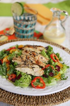 Caribbean Chicken Salad (inspired by the Chili's version) from ourbestbites.com