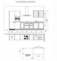 Plan de cuisine en parallèle dans une pièce en longueur - Marie Claire Maison