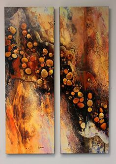 """""""Arroyo,"""" embellished reproduction by Carol Nelson mixed media ~ 36 inches x 24 inches #abstractart"""