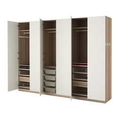 Pax Wardrobe, White Stained Oak Effect, Tanem White