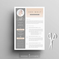resume template and cover letter references template for word diy printable 5 pages the dolce vita professional creative design