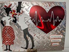 Tim Holtz Dies, Sizzix Dies, Valentines, Valentine Cards, Romance, Paper Crafts, Birthday, Stamps, Hearts