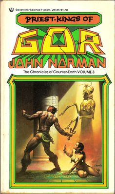 The Chronicles of Counter Earth / 3 / Priest Kings of Gor by John Norman / Book cover (Boris Vallejo)