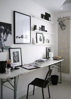Idées déco : 10 bureaux minimalistes en noir et blanc | www.decocrush.fr