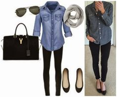 On the Daily EXPRESS: Lifeless Outfits: Chambray Edition  2. Polished Casual