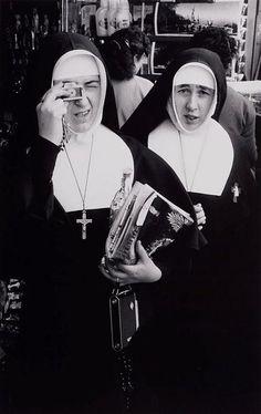 David Moore (1927-2003) - Nuns at Lourdes Centenary, New York 1958.