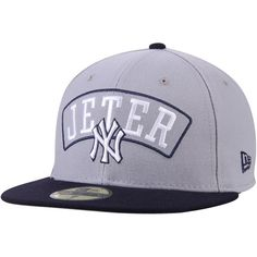 f1e1b1d56edf6 Derek Jeter New York Yankees New Era Number Retirement 59FIFTY Fitted Hat -  Gray