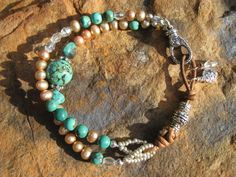Southwestern Bling  African Turquoise Butterscotch by fleurdesignz