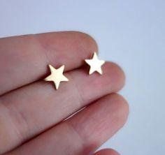 Brass Star Studs | uncovet