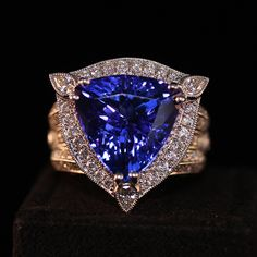 Tanzanite and diamond ring #customdesigns #uniquelyyours