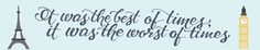 """hand-lettered """"A Tale of Two Cities"""" bookmark  veronicaleebishop.com"""