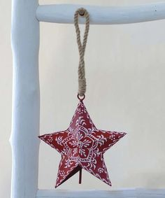 Love this 4'' Red Hand-Painted Star Cow Bell Ornament by Creative Co-Op on #zulily! #zulilyfinds